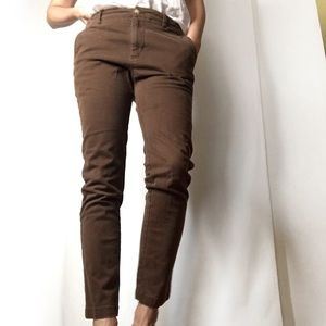 Urban Outfitters Skinny Fit brown cotton pants 30